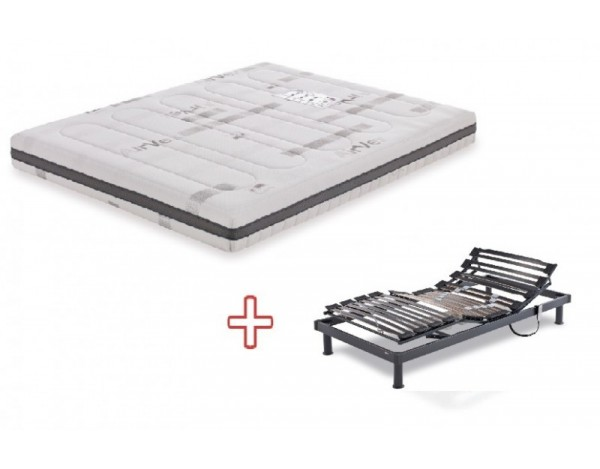 Pack Colchon Viscolastico Space Flex  +  Somier Eléctrico articulado A6