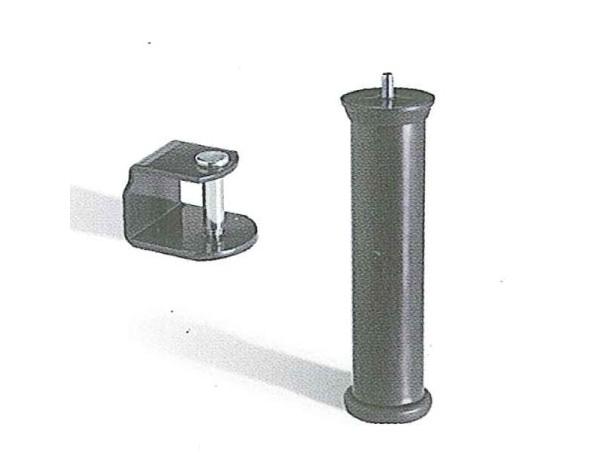 Pata de plástico nivel con brida gris grafito