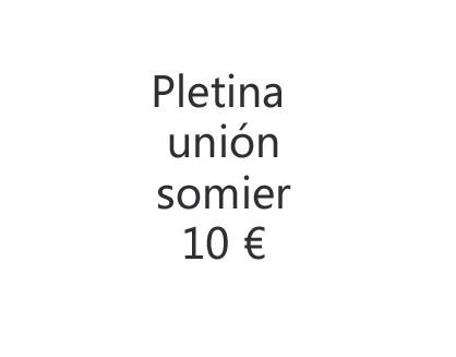 Pletina unión somier Flex