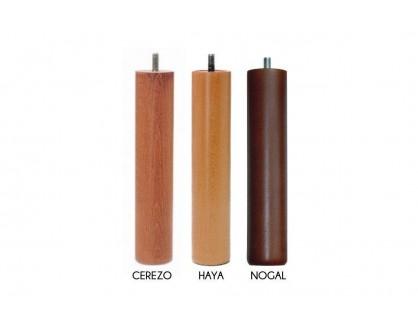 Pata de madera 26 cm de Nogal, Haya o Cerezo